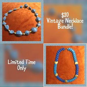 $10 Blue Vintage Necklace Bundle